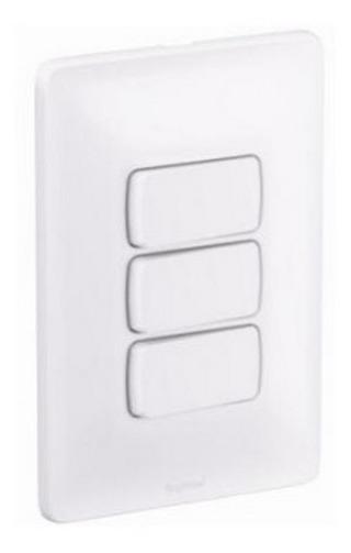 Interruptor 2 Simples + 1 Paralelo 10A 680104 Zeffia Branco Pial