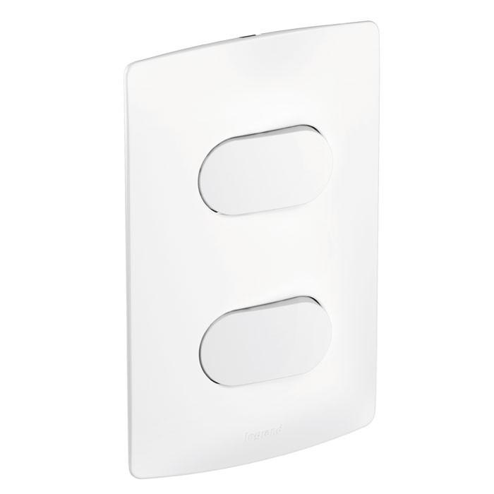 Interruptor 2 Simples Nereya 663101 4x2 Branco Pial