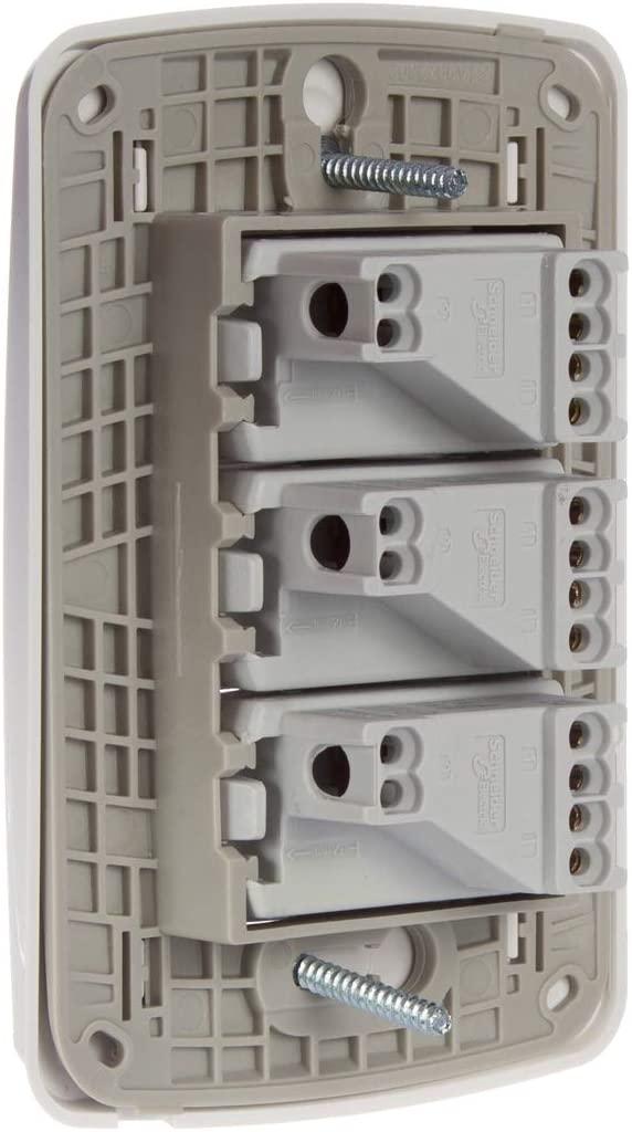 Interruptor 3 Simples 10A 250V S3B62210 Branco Schneider