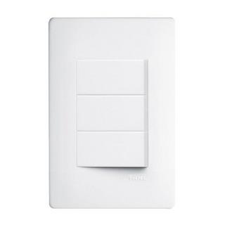 Interruptor 3 Simples 10A Habitat 6120954 Fame