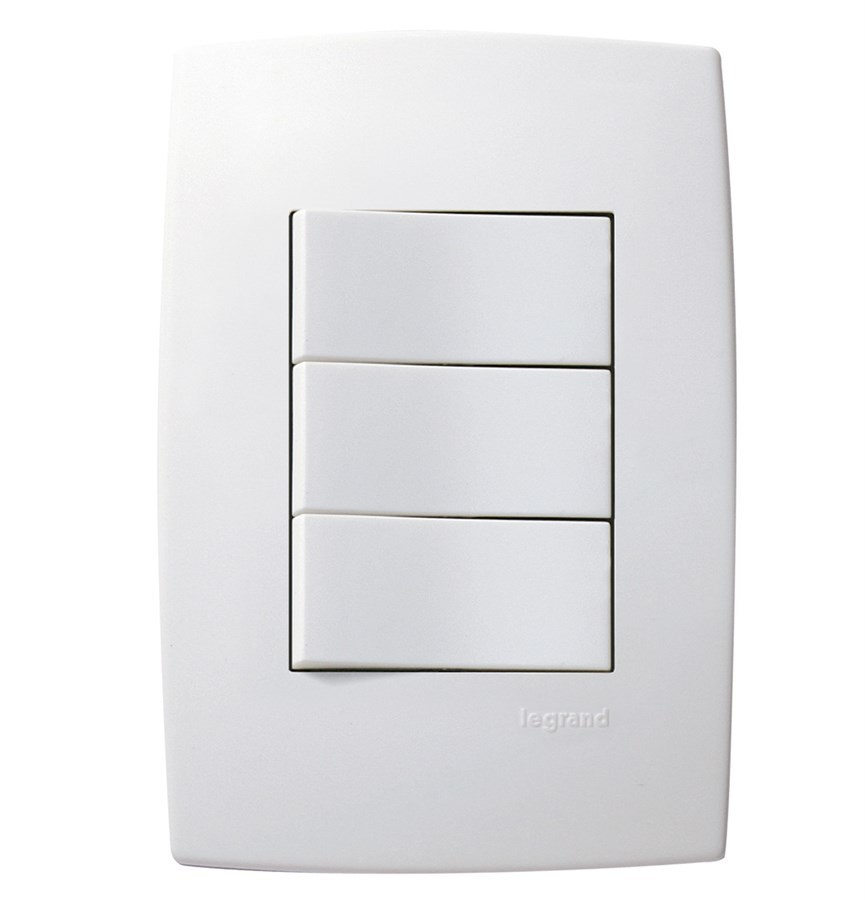 Interruptor 3 Simples 613100 Plus Pial