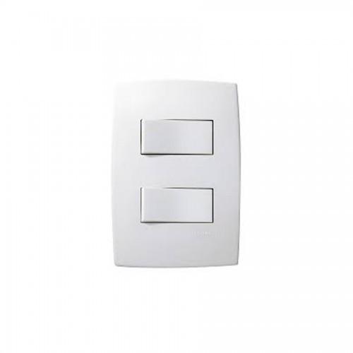 Interruptor Paralelo 2 Teclas 612104 Plus Pial