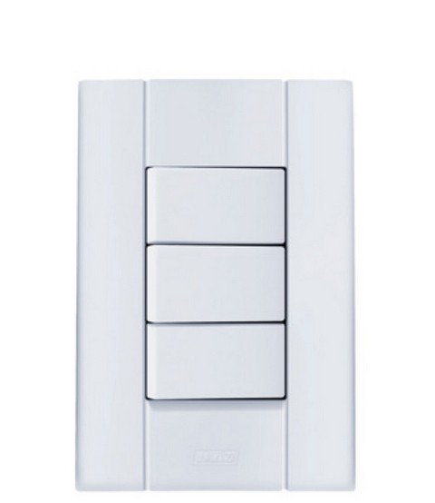 Interruptor Paralelo 3 Teclas 10A Mares 2539 Romazi
