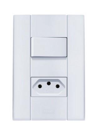 Interruptor Paralelo + Tomada Mares 2569 Romazi