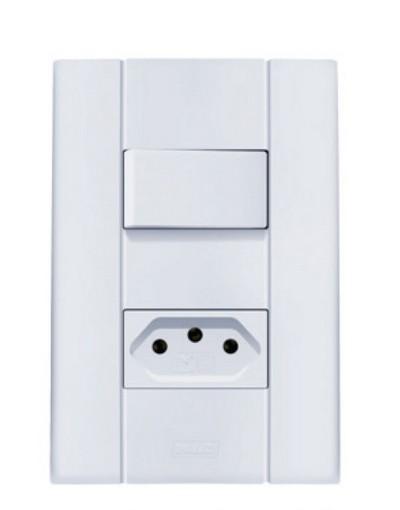 Interruptor Simples 10A + Tomada 20A Mares 2525 Romazi