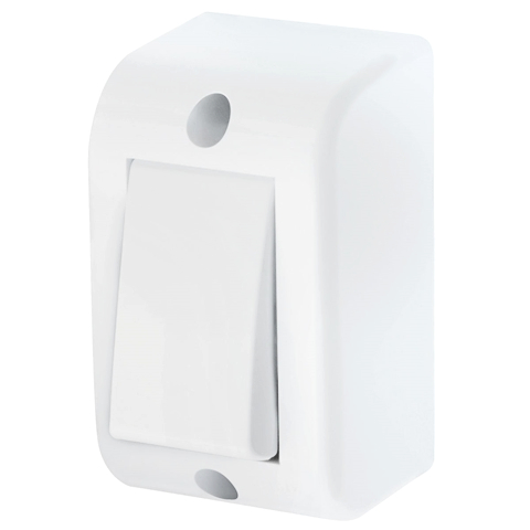Interruptor Simples 16A Sobrepor 08125410 Branco Fame