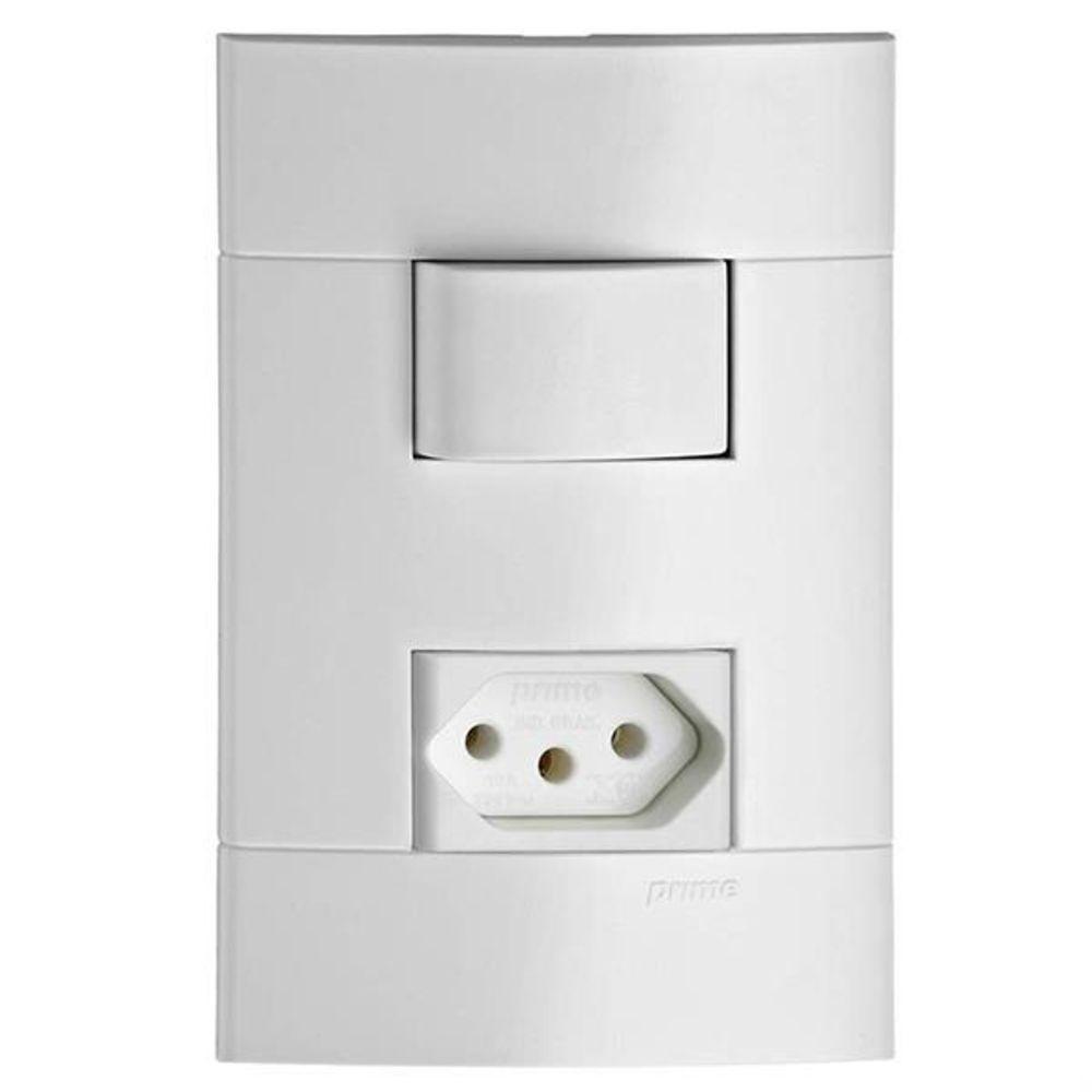 Interruptor Simples + Tomada 2P+T Padrão Brasileiro 10A Decor BR04404721 Schneider