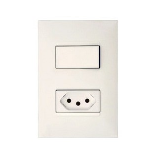 Interruptor Simples + Tomada 2P+T Padrão Brasileiro M5A68S Thesi 4x2 Pial