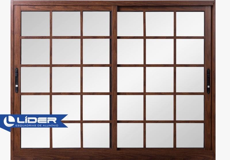 Janela 2 Folhas Infinity Quadrada Vidro Liso 100x120cm Lider