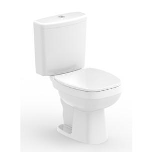 Kit Bacia com Caixa Acoplada City 3.6L + Assento Sanitário Soft Close em Polipropileno Branco Roca