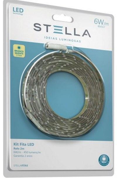 Kit Fita Led 6W IP20 2700K 2 Metros STH6802/27 Stella