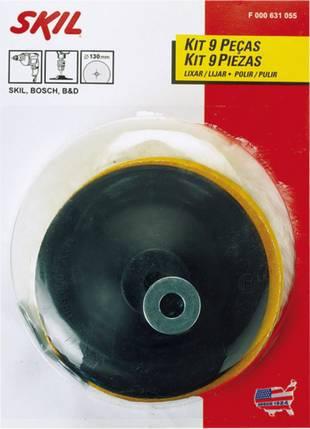 Kit para Lixar e Polir 9 Peças Skil Bosch