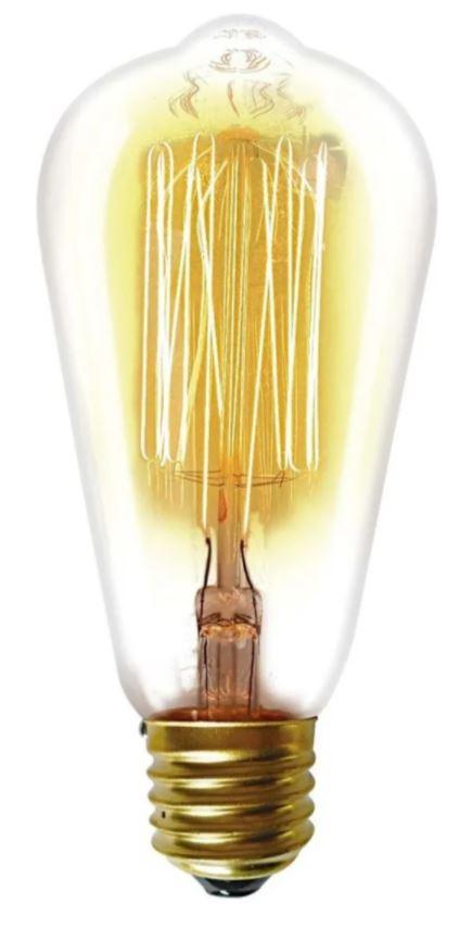 Lâmpada Filamento de Carbono ST64 40W 220V Taschibra