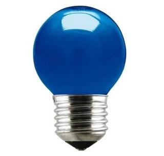 Lâmpada Incandescente Bolinha 15W 10256 220V Azul Taschibra