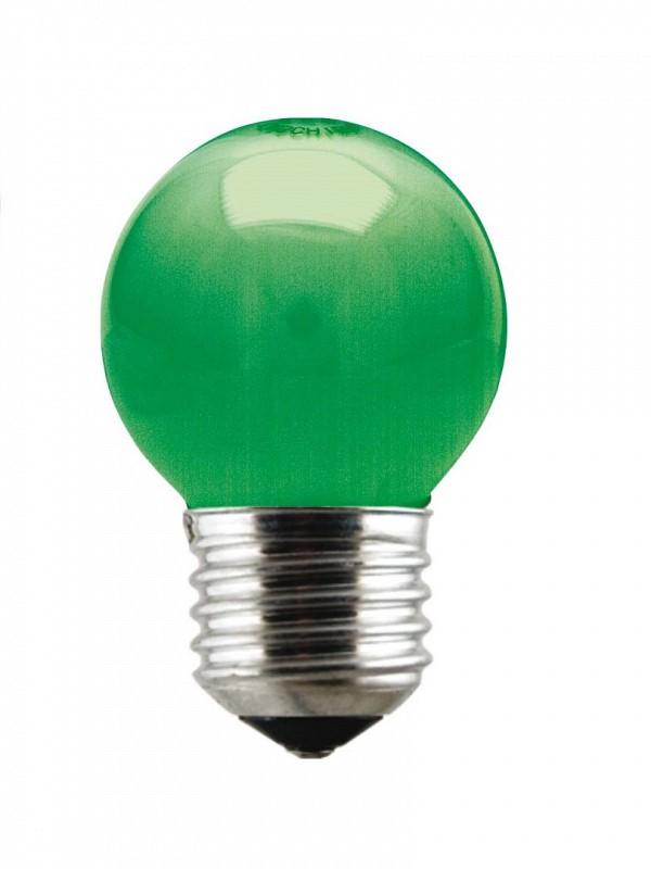 Lâmpada Incandescente Bolinha 15W 10259 220V Verde Taschibra