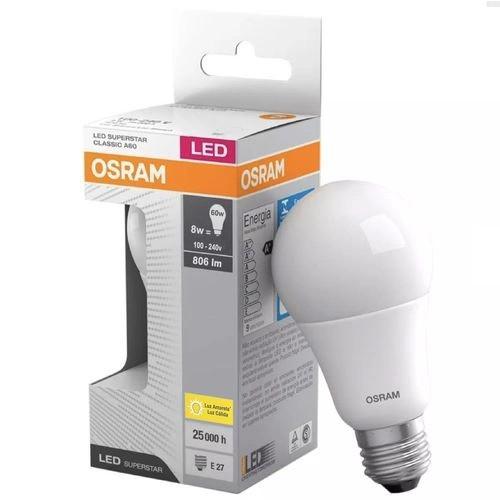 Lâmpada Led CLA60 8W/806L E27 G2 3000K Bivolt Osram