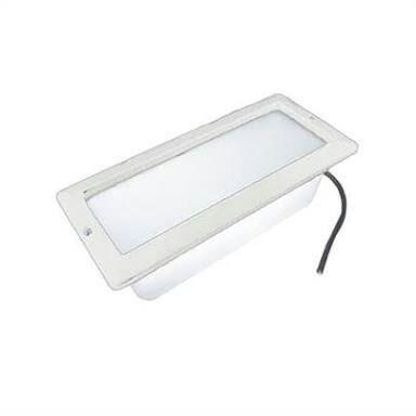Luminária de Alumínio Embutido Parede sem Grade 541 Branco FM Lustres