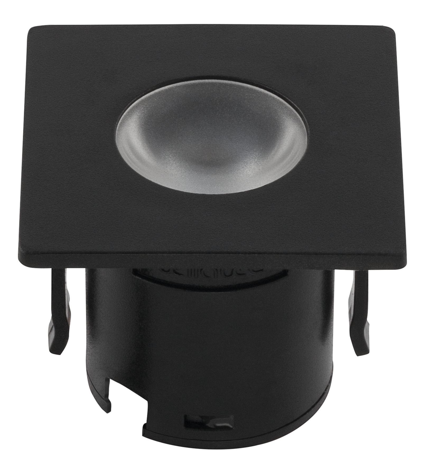 Luminária de Embutir Mini para Móveis 1,2W 80LM 3000K Preto Stella