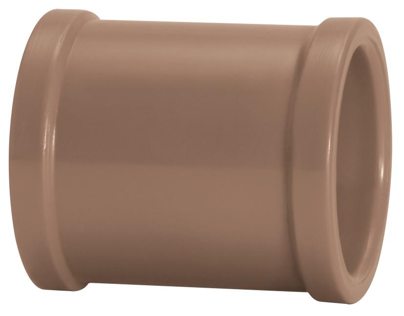 Luva Água Fria Soldável 25mm Marrom Amanco