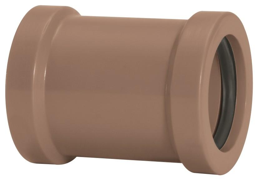 Luva de Correr Água Fria Soldável 25mm Marrom Amanco Wavin