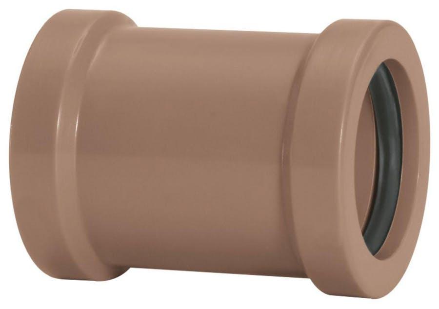 Luva de Correr Água Fria Soldável 40mm Marrom Amanco