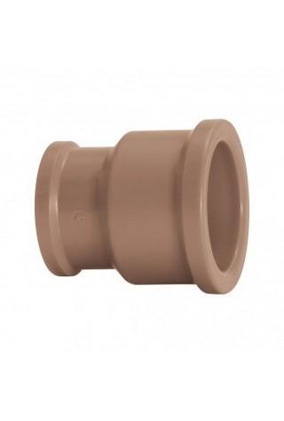Luva de Redução Água Fria Soldável 25x20mm Marrom