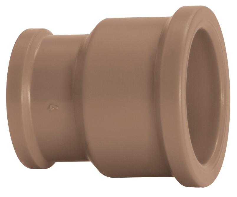Luva de Redução Água Fria Soldável 32x25mm Marrom