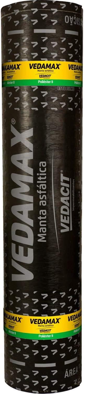Manta Asfáltica Vedamax Lajes Média 3mm Preto Vedacit