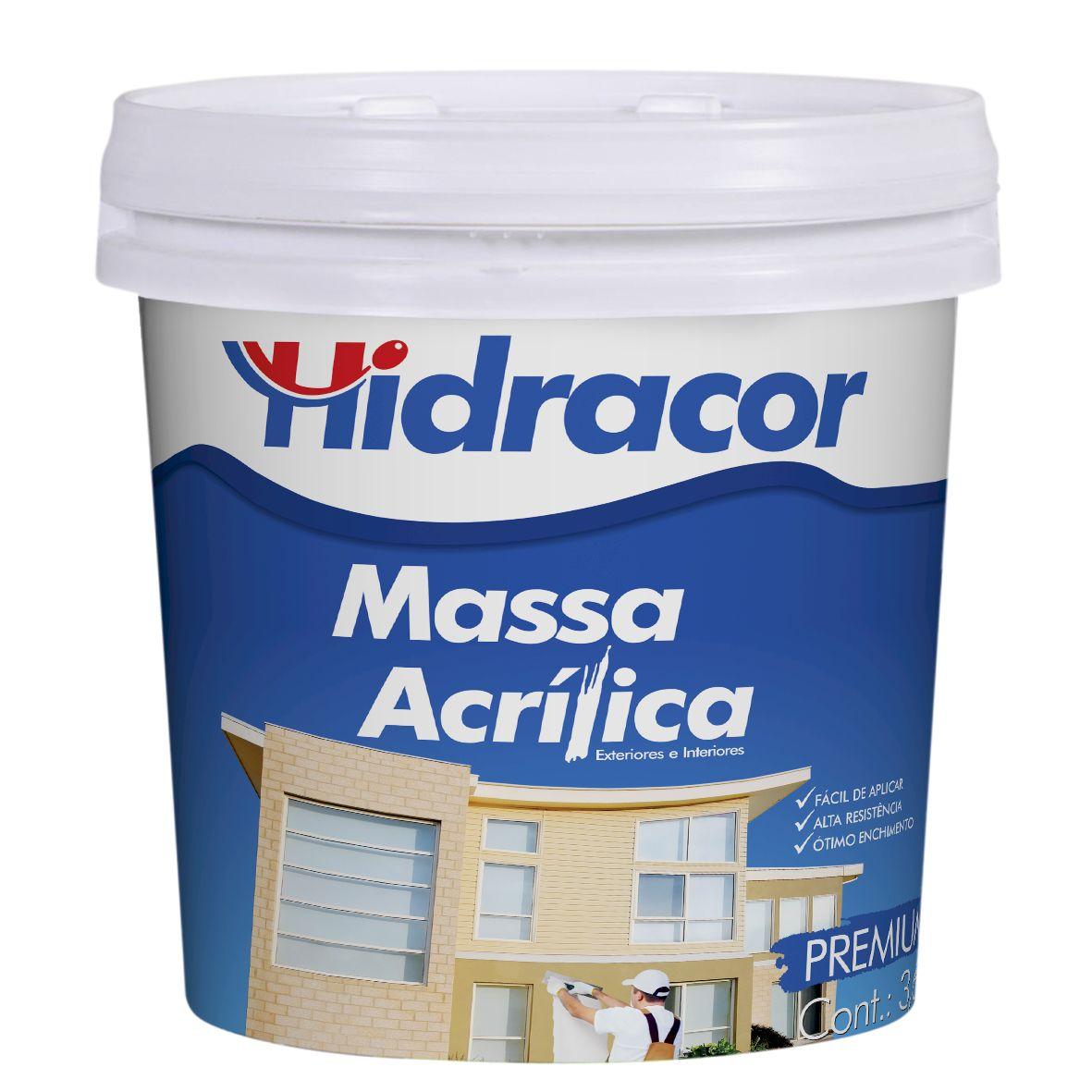 Massa Acrílica 3,6 Litros/5,5kg Hidracor