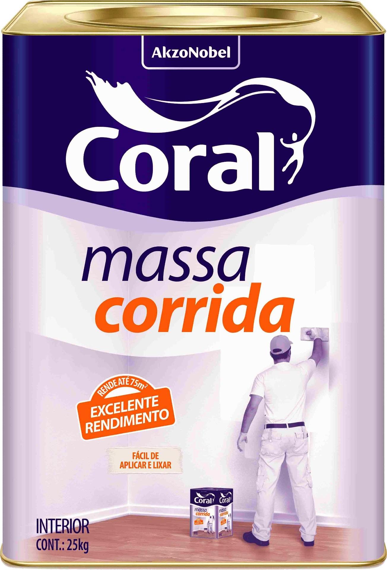 Massa Corrida Coralar 25kg Coral
