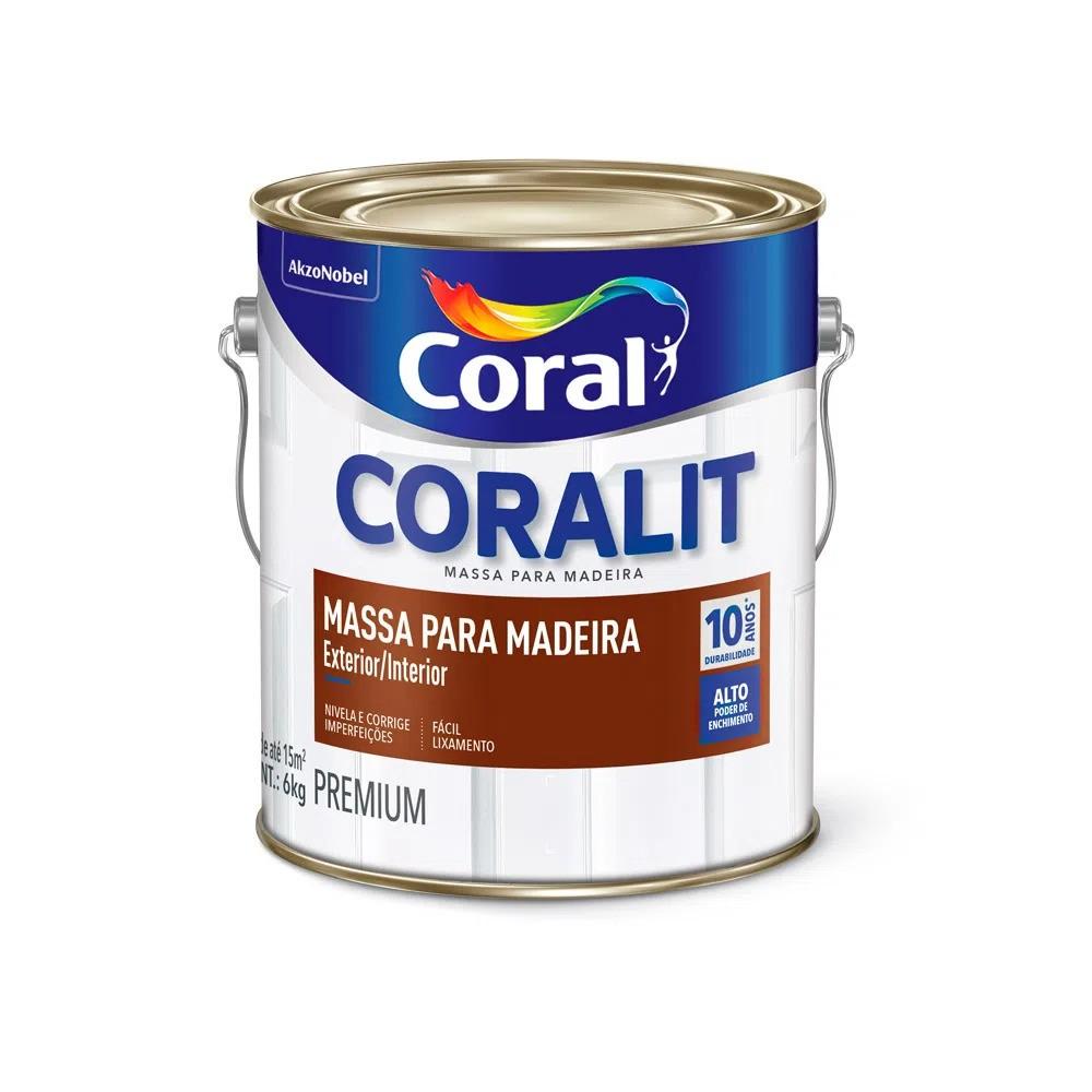 Massa Óleo para Madeira 3,6 Litros/6kg Coral