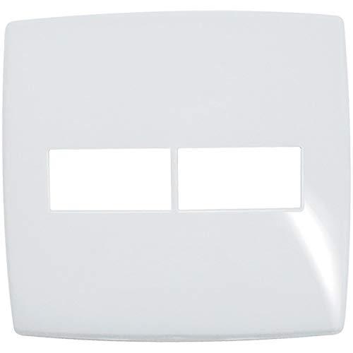 Placa 1+1 Posto Horizontal Gloss 618531 4x4 Branco Pial
