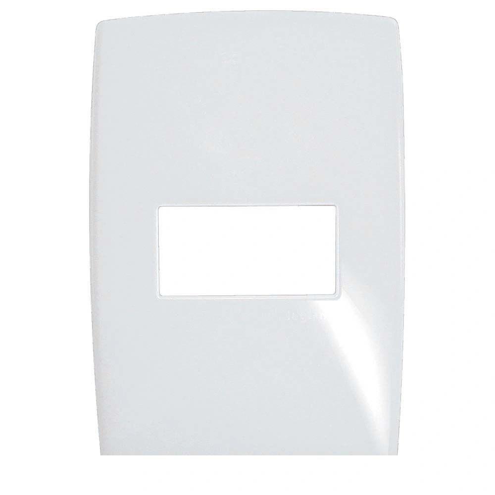 Placa 1 Posto Horizontal Gloss Branco 618525 4x2 Pial
