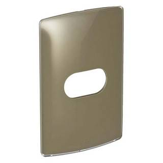 Placa 1 Posto Horizontal Nereya Malt Gloss 6632154x2  Marrom Pial