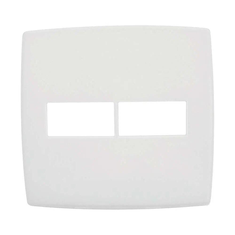 Placa 2 Postos 618511 Plus 4x4 Branco Pial