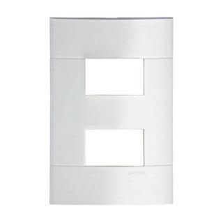 Placa 2 Postos Lunare 44221 4x2 Branco Schneider