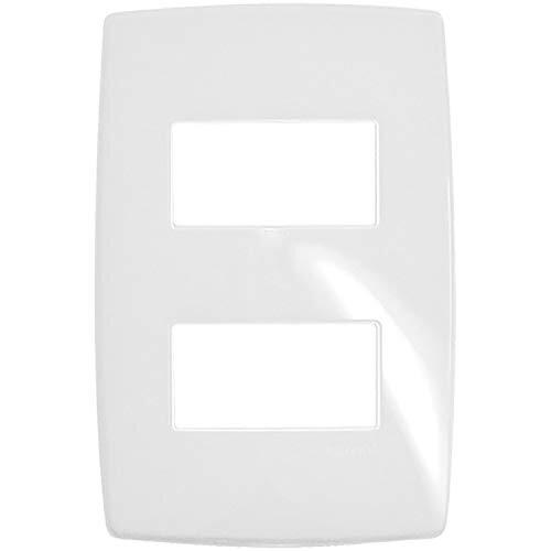 Placa 2 Postos Separados Gloss 618526 4x2 Branco Pial