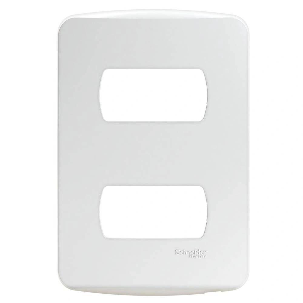 Placa 2 Postos Separados Miluz S3B77120 4x2 Branco Schneider
