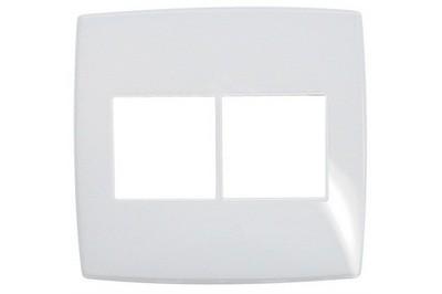 Placa 3+3 Postos Gloss 618536 4x4 Branco Pial