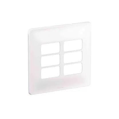 Placa 3+3 Postos Separados 680177 Zeffia 4x4 Branco Pial