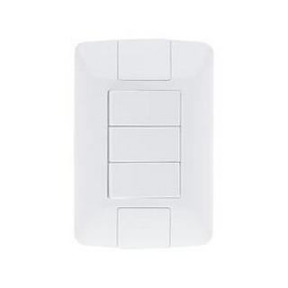 Placa 3 Módulos M5P3 Thesi Up 4x2 Branco Pial