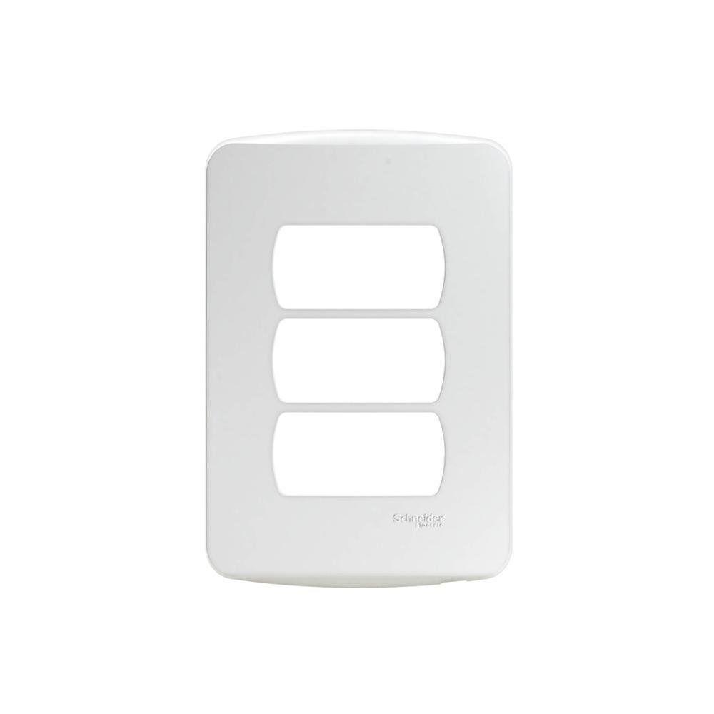 Placa 3 Postos Miluz S3B77130 4x2 Branco Schneider