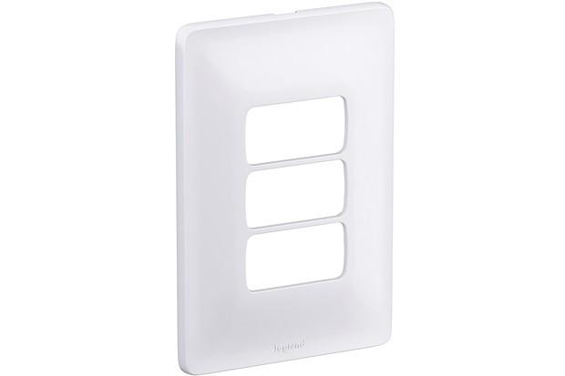 Placa 3 Postos Separados 680183 Zeffia 4x2 Branco Pial