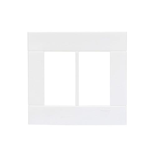 Placa 6 Postos Lunare 44461 4x4 Branco Schneider