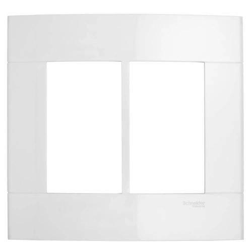 Placa 6 Postos Lunare Decor 044461 4x4 Branco Schneider
