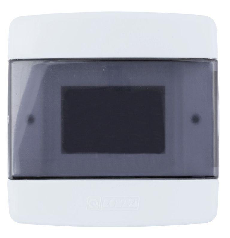 Quadro de Distribuição Disjuntor 3214 3/4 Branco Fumê Romazi