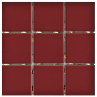 Revestimento Cerâmico Cristal A Caixa 1,80m² 10x10cm Vermelho Elizabeth