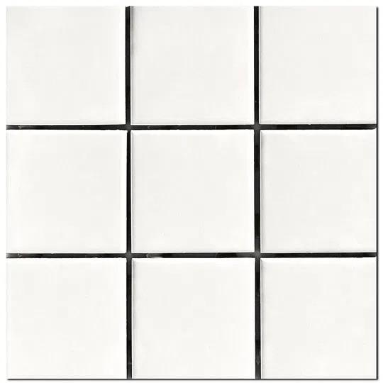 Revestimento Cerâmico Esmaltado Bold Lux A Caixa 1,80m² 10x10cm Neve Elizabeth