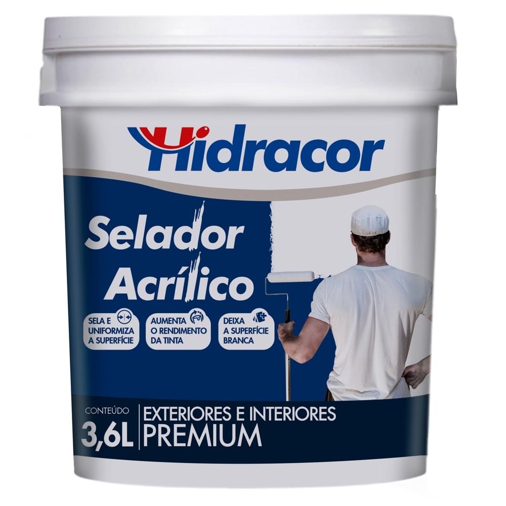 Selador Acrílico Hidracor 3,6 Litros Branco Hidracor
