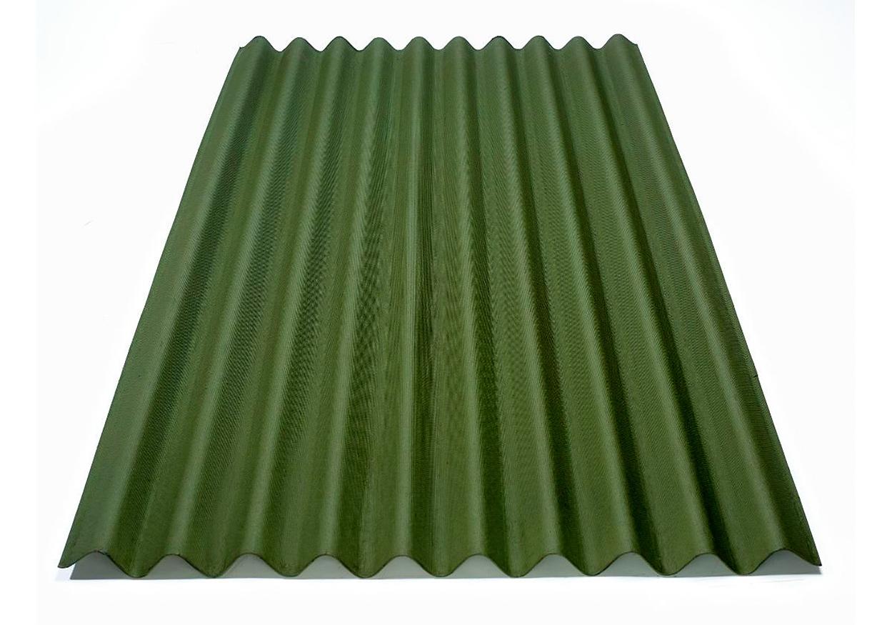 Telha Ecológica Clássica 95x200cm Verde Onduline